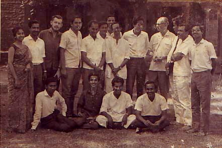Week-end camp at Dhaka around 1966. Faruque 2nd from left.